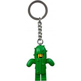 Přívěsek na klíče s chlapcem v převleku kaktusu