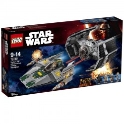 Vader\'s TIE Advanced vs. A-Wing Starfighter