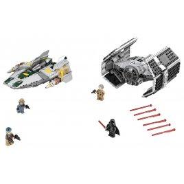 Vader\'s TIE Advanced vs. A-Wing Starfighter