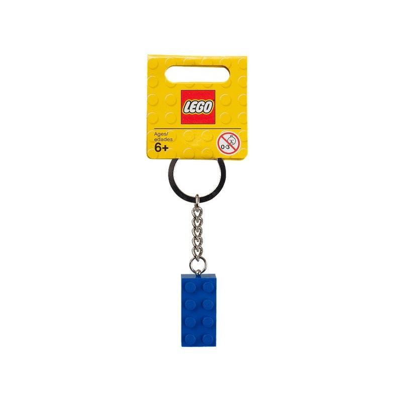 Přívěsek na klíče s modrou kostkou 2x4