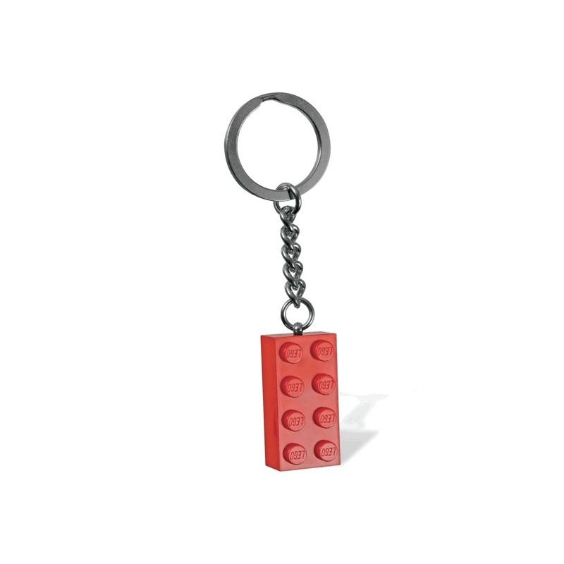 Červený přívěsek na klíče ve tvaru kostky