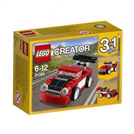 Červené závodní auto
