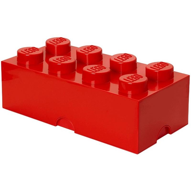 LEGO® Červená úložná kostka s 8 cvočky