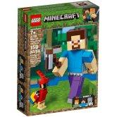 Minecraft velká figurka: Steve s papouškem