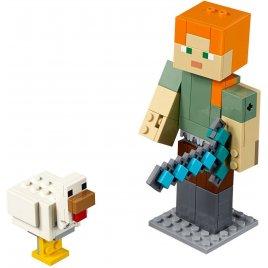 Minecraft velká figurka: Alex s kuretem