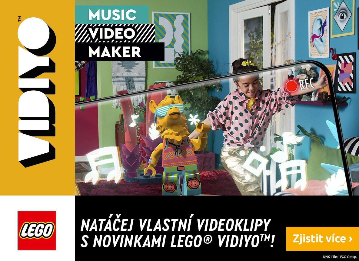 Pustite si svoju obľúbenú hudbu a nalaďte sa s nami na novinky LEGO® VIDIYO™